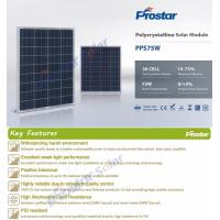 Factory directly photovoltaic 75 watt solar panel price in india for green energy power