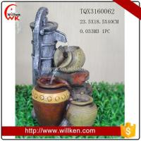 China Animal Statues Polyresin garden pots waterfall fountains on sale