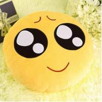 Emoji pillow Funny children toy yellow super soft plush emoji pillow