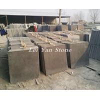 blue limestone honed tiles in factory