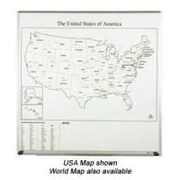 Quality Porcelain Map Dry Erase Graphic Board for sale