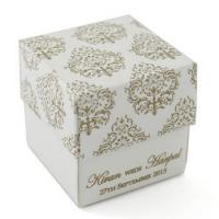 Buy cheap Luxury customized corrugated white gift paper box for present from wholesalers