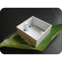 Quality Metal Electrical Box Single Gang 40mm Deep PVC Pattress Box With Brass Nut for sale