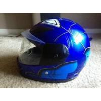 China Blue Spiderman Light Weight Full Face Motorcycle Kids Helmet on sale