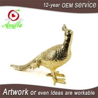 Quality Resin Golden Paired Peacock Statue and Gifts Items for sale