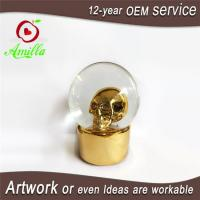 Quality 120mm Resin Golden Skull Water Ball With Music For Halloween for sale