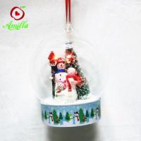 Quality Factory Price Resin Snowman In Dome Christmas Ornament for sale