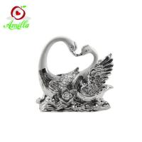 Quality High Quality Resin Swan Sculptures Home Decor Wedding Gifts for sale