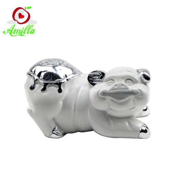 Buy Funny Handmade Resin Crafts Pig Statues Home Garden Ornaments at wholesale prices