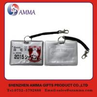 Quality Portable elegant id card case holder with string for sale