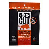 Quality Snacks / Foods Chef''s Cut Real Jerky Real Steak Jerky Chipotle Cracked Pepper 1.25 oz for sale