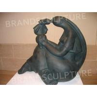 China Abstract Sculpture outdoor park decor carved figure fiberglass statue on sale