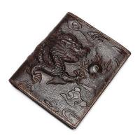 Buy cheap Itslife Men's Gragon Embossing Wallet Crazy Horse Leather Zipper Credit Card Holder from wholesalers