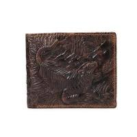 Buy cheap Itslife Men's Genuine Cowhide Leather 3D Tiger Embossing Wallet from wholesalers