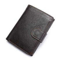 Buy cheap Itslife Men's Genuine Leather Wallet Retro Cowhide Hasp Trifold Vintage Card Holder from wholesalers