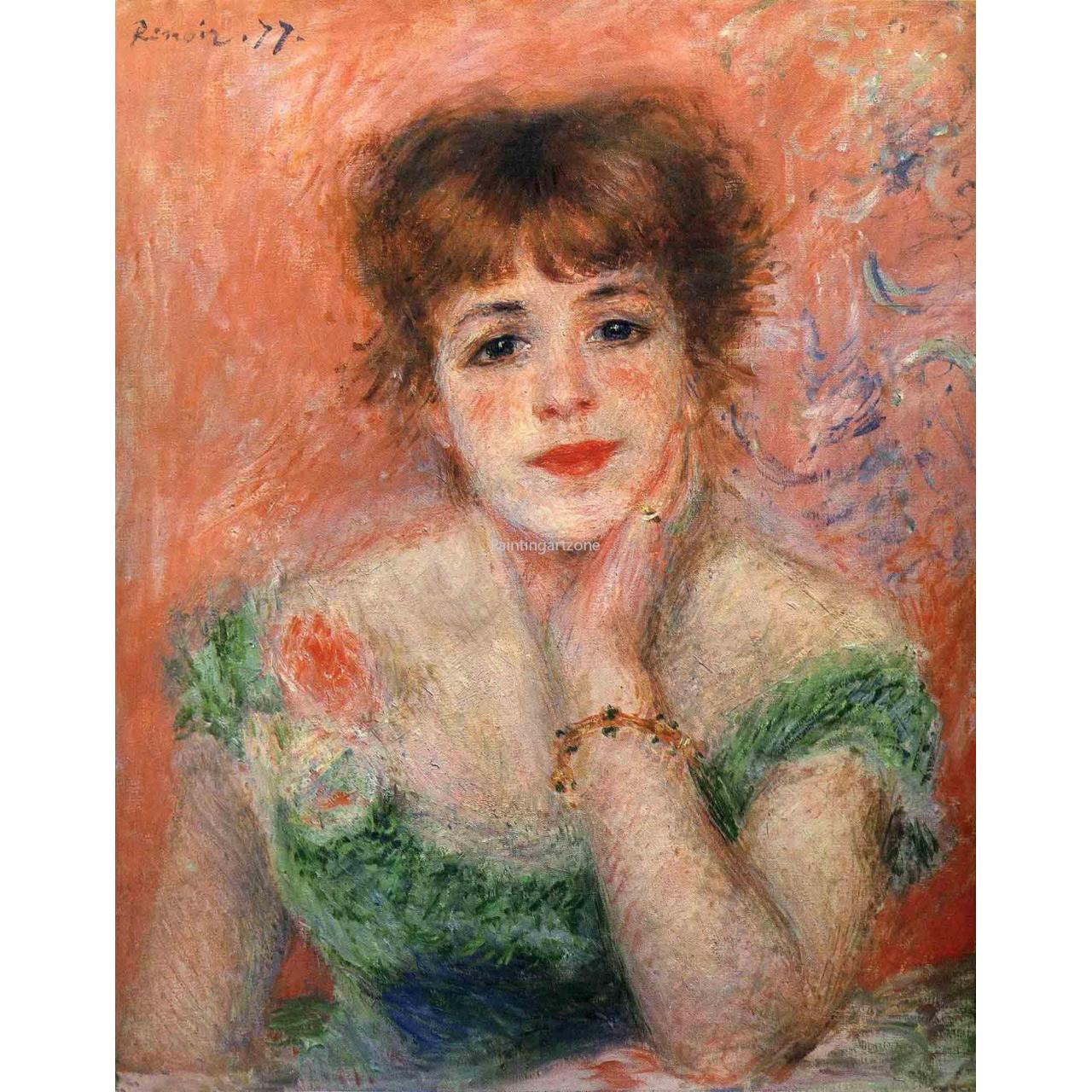 Quality Canvas prints Antique art printings of Jeanne samary in a low necked dress 1877 for sale