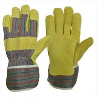 Quality Pig leather working glove docker glove for sale