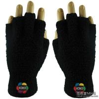 Quality Apparel & Clothing AG1007Embroidered Fuzzy Fingerless Gloves for sale