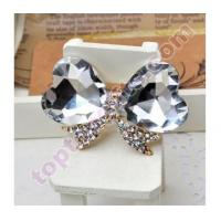 Quality heart bowknot rhinestone cabochon mirror decoration JEWELRY for sale