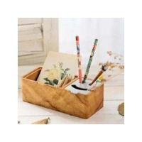China Wooden happy face pen holder on sale