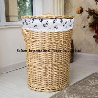 Quality handweaved washable plastic rattan laundry basket for hotel hamper basket for sale