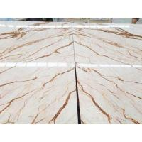 Quality Golden dragon marble, hot sell white marble with gloden dragon veins, large projects material for sale