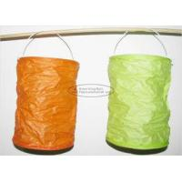 Quality Spring Lampion Paper Lanterns Craft , Outdoor Hanging Paper Candle Lanterns 10 X 15 Cm for sale