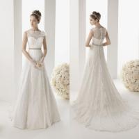 WDWZ-090 $135 Whole Lace With Buttons Flowers Wedding Gown