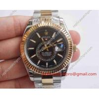 China Rolex Oyster Perpetual Sky Dweller Copy Mens Watch - 2-Tone Black 42mm on sale
