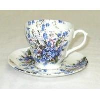 China Forget-Me-Not & Lily Cup and Saucer on sale