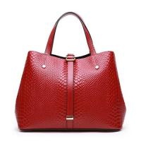 Quality Women Bags Genuine Leather Woman Handbag Tote Satchel Crocodile Embossed XL0877 for sale