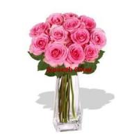 Buy cheap 12 Rose Vase Bouquet from wholesalers