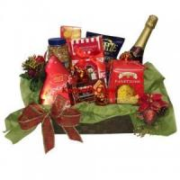 China Christmas and New Year Festive Season Featured Gourmet Gift Baskets on sale