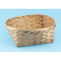 Quality C-102 Oval stained bamboo basket for sale