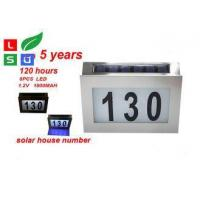 Wall Mounted Solar Powered Signs 5050 SMD LED Solar House Number Light