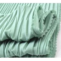 China 2017 Hot Sale Solid Dyed Pleated 100D Polyester Chiffon fabric for dress on sale