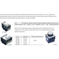 AC CONTACTOR LA1-D LA2-D LA3-D Contact Blocks