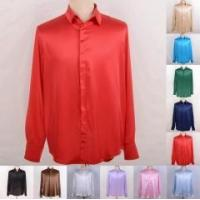 Quality Men's 30 Momme 100% Pure Silk Dress Shirts Business Shirts Ailisilk for sale