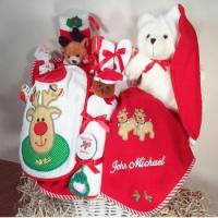 Quality Baby Gift Baskets Merry Christmas Baby Gift Basket for sale