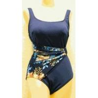Quality Swimwear SOLD OUT Roxanne navy & floral draped sash swimsuit for sale