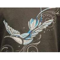Quality Christine Alexander gorgeous blue bird Sweatshirt Medium only for sale
