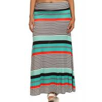Buy cheap Maxi Skirt - MINT STRIPES from wholesalers