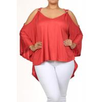 Buy cheap Katya Cut-Out Top - CORAL from wholesalers