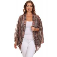 Buy cheap Dolman Open Cardigan - BROWN AZTEC from wholesalers