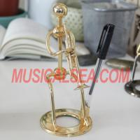 China Miniature performer figurine pen holder for office decoratio Musical Instrument on sale