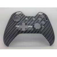 Quality E-MODS GAMING Xbox Original One Hydro Dipped Black Carbon Fibre Controller Shell Mod - Front Shell for sale