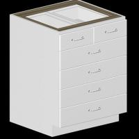 5 Drawer Kitchen Base Cabinet