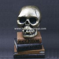 Buy cheap Decorative Resin Halloween Craft Skull On Books from wholesalers