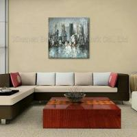 100% Handmade Streched Abstract Street Oil Painting