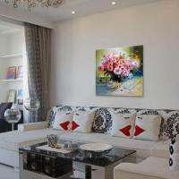 Modern Colorful Chrysanthemum Flower Wall Decoration Oil Painting